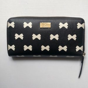 KATE SPADE BRIGHTWATER BOW PRINT WALLET